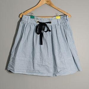 Kate Spade blue and white linen skirt